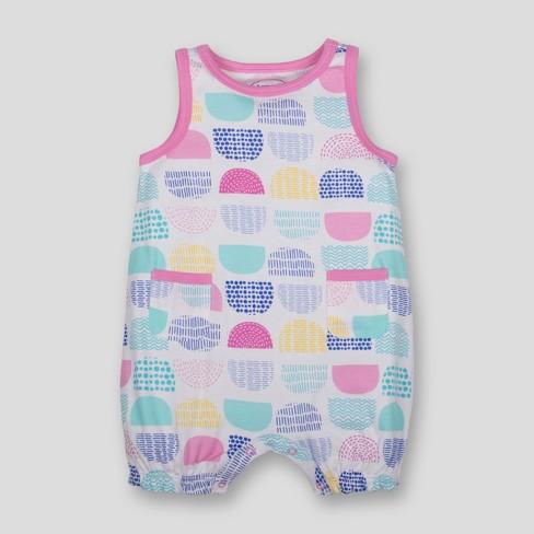 9c5c44d8b476 Lamaze Baby Girls  Organic Cotton Dot Print Romper...   Target