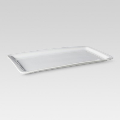 Casual Modern Rectangular Serving Tray - White - Threshold™