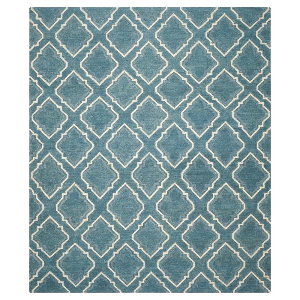 Dhurries Rug - Blue/Ivory - (8'x10') - Safavieh
