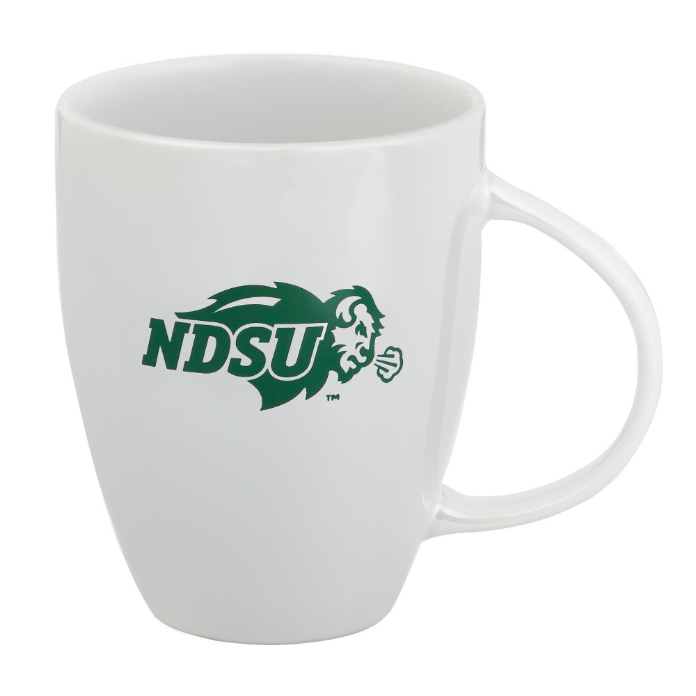 North Dakota State Bison 18oz White Lustre Bistro Coffee Mug
