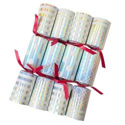 Tom Smith 8ct Metallic Christmas Party Crackers