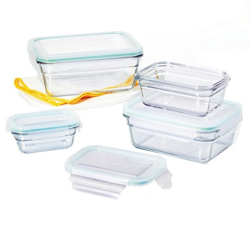 Glasslock Oven and Microwave Safe Glass Food Storage Containers 8 Piece Set