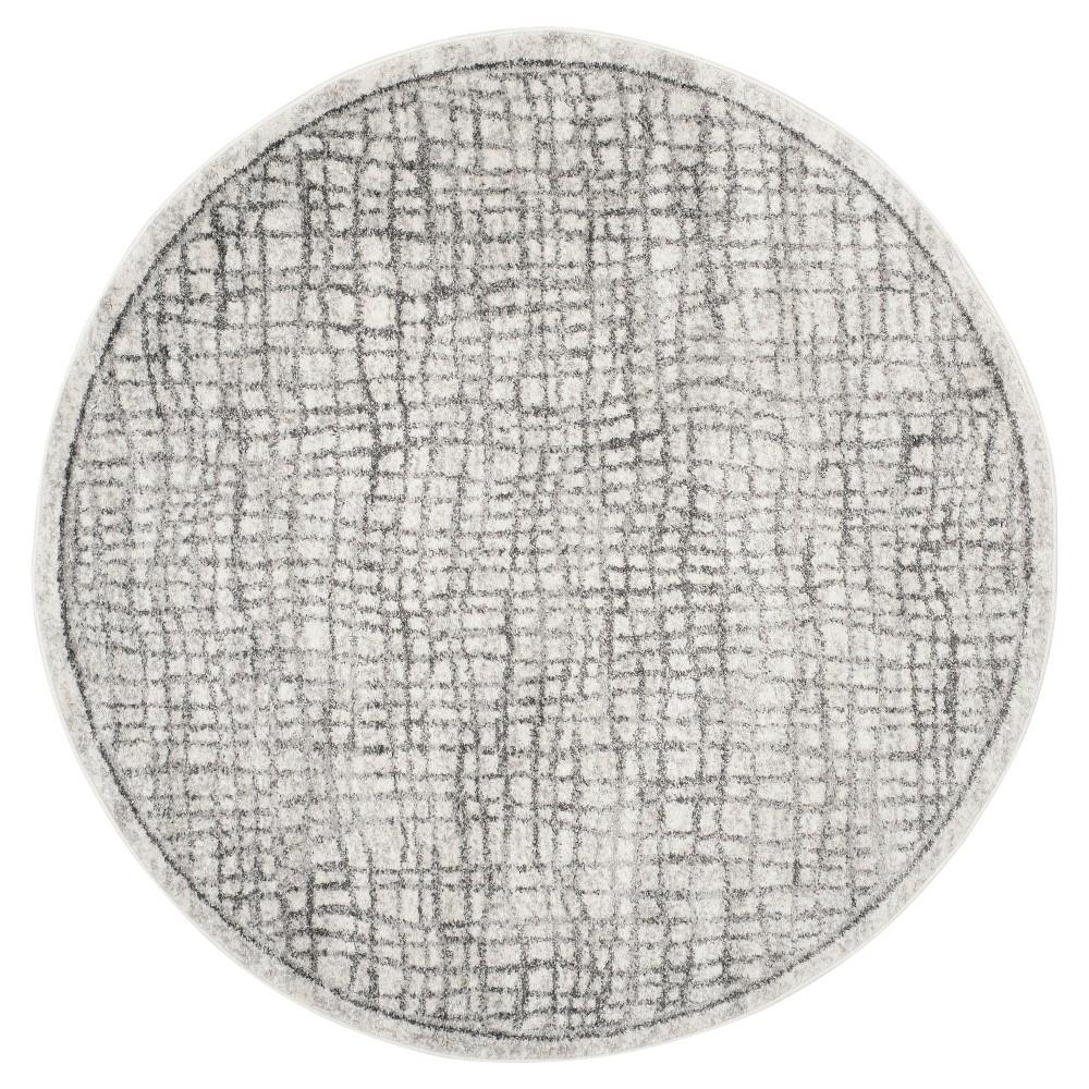Adirondack Rug - Silver/Ivory - (6'x6' Round) - Safavieh