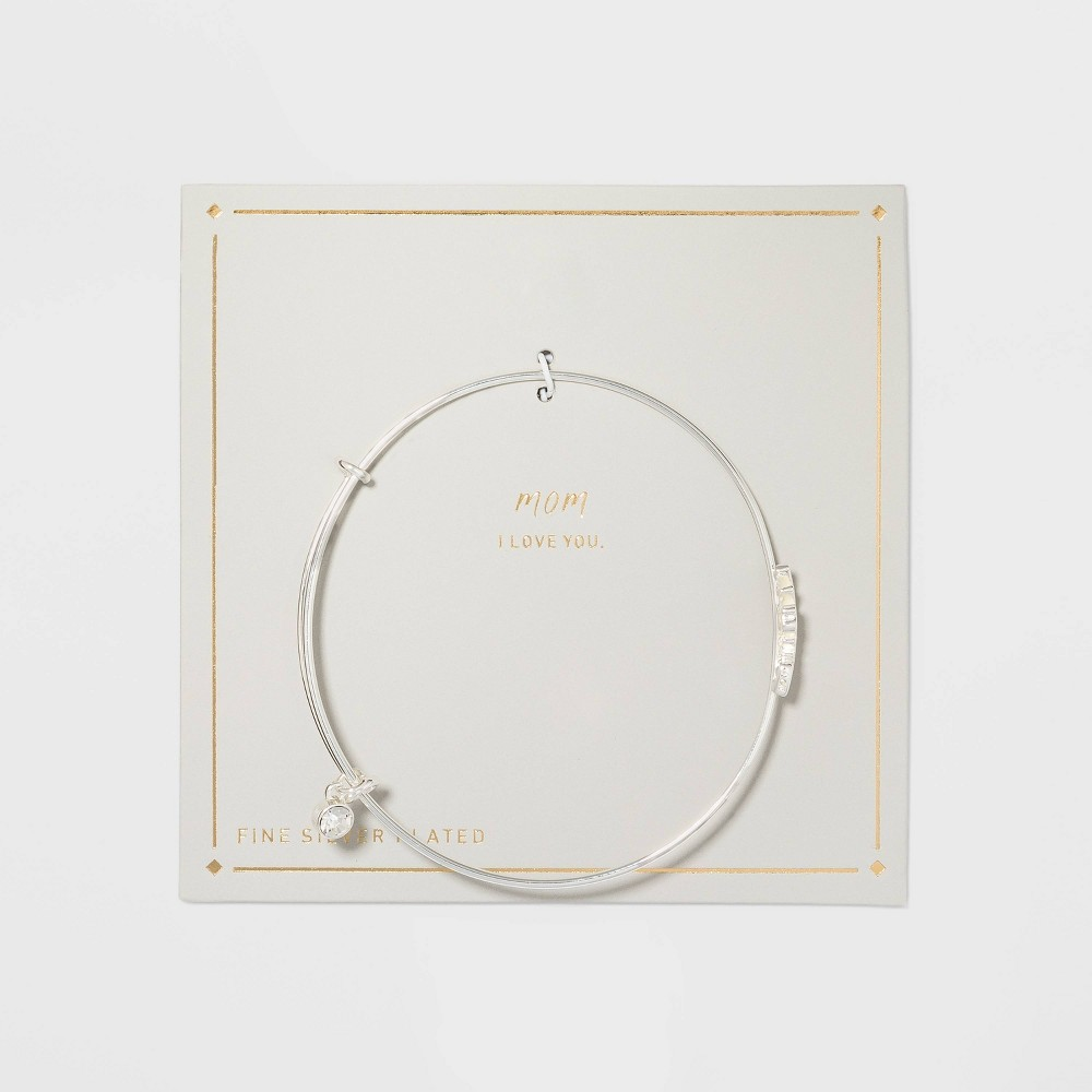 Silver Plated Thin Expandable Mom Bangle from Target mothers day