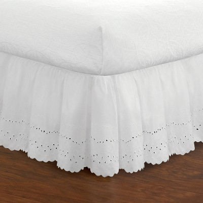 "Fresh Ideas Eyelet Ruffled Bedskirt 18"" Drop"