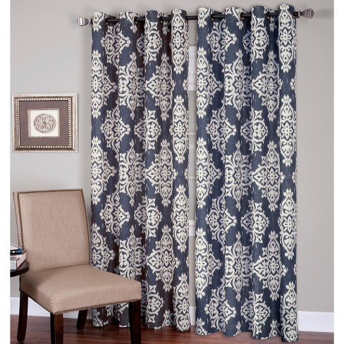 Medina Ikat Room Darkening Window Curtain Panel - Elrene Home Fashions - image 1 of 4