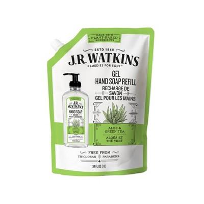 J.R. Watkins Aloe & Green Tea Gel Hand Soap Refill - 34 fl oz