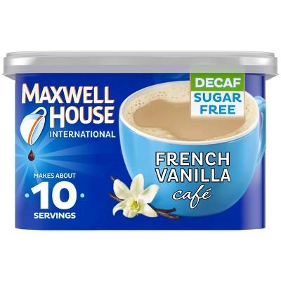 Maxwell House International French Vanilla Café Light Roast Sugar-Free Decaf Instant Coffee Mix - 4oz