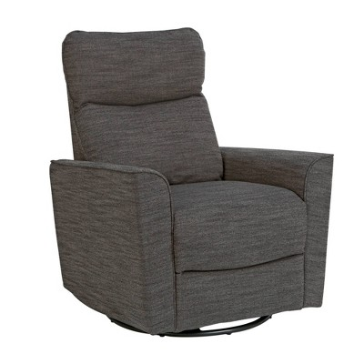 Karla Dubois Soho Swivel Accent Chair - Dark Gray