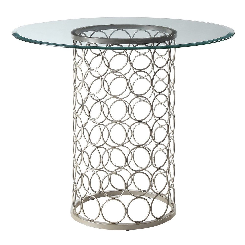 Image of 36 Audrey Round Glass Top Table - Carolina Chair & Table, Gold