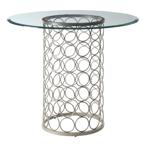 Audrey Glass Top Table - Carolina Chair & Table - image 1 of 3