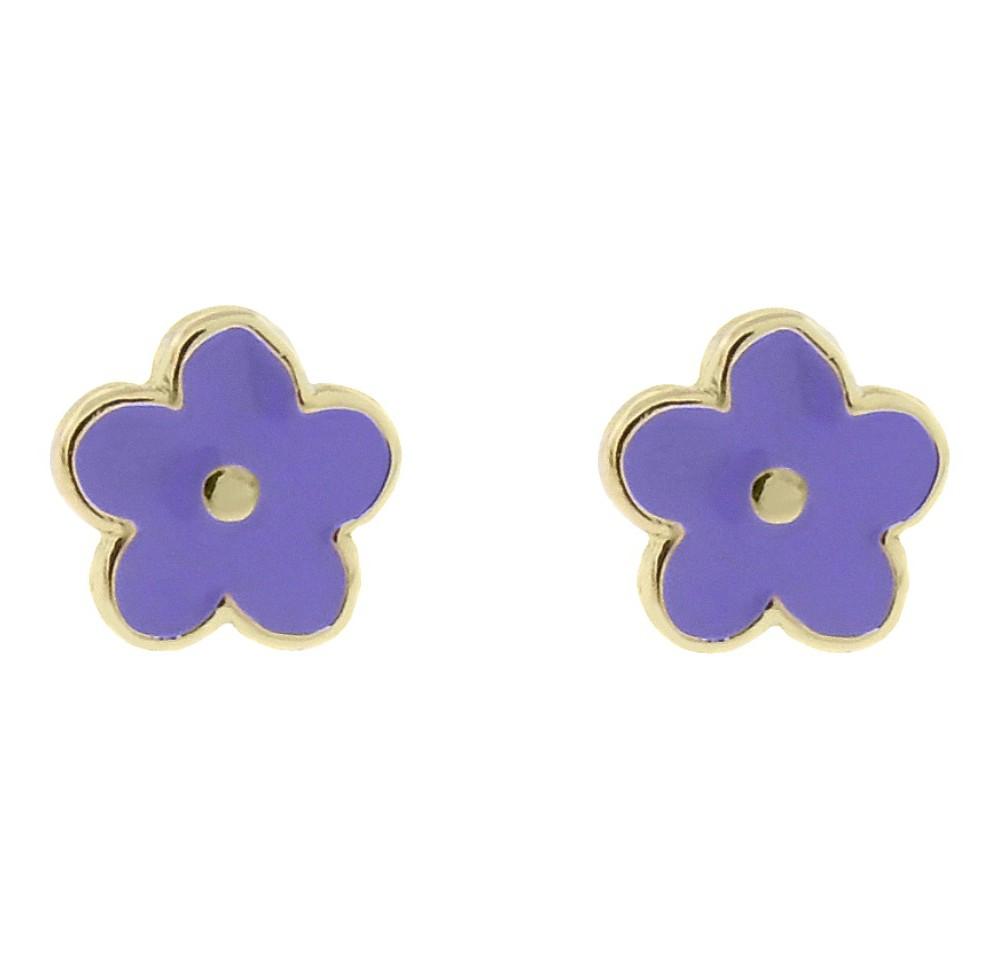 Target Ellen 18k Gold Overlay Enamel Flower Stud Earrings...