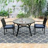 """48"""" Metal Round Dining Table with 1.97"""" Umbrella Hole - Black - Captiva Designs - image 2 of 3"""