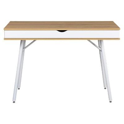Bon Modern Multi Storage Computer Desk With Storage Beige/White   Techni Mobili  : Target