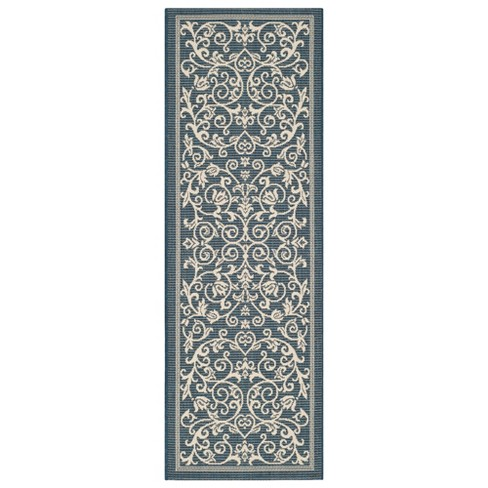 "Vaucluse Rectangular 2'3"" X 6'7"" Outdoor Rug - Navy / Beige - Safavieh® - image 1 of 1"