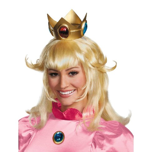 super mario brothers princess peach wig osfm target