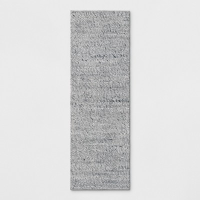 Chunky Knit Wool Woven Rug 2'3 x7' Gray - Project 62™