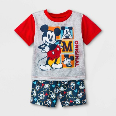 Toddler Boys' Mickey Mouse & Friends Pajama Set - Red