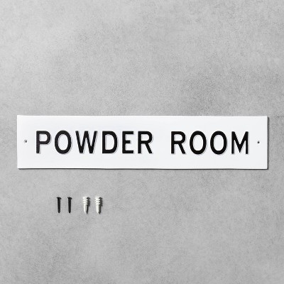 Large 'Powder Room' Wall Sign White/Black - Hearth & Hand™ with Magnolia