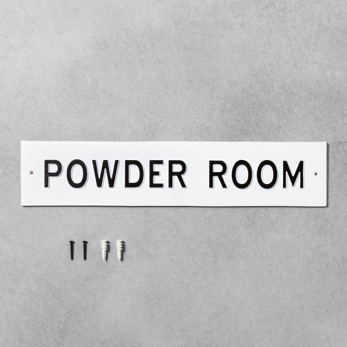 Large 'Powder Room' Wall Sign White/Black - Hearth & Hand™ with Magnolia - image 1 of 2