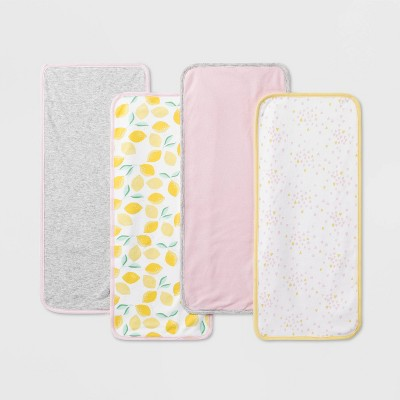 Baby Girls' 4pk Oh Honeybee Burp Cloth Set - Cloud Island™ One Size