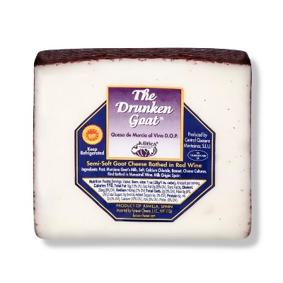The Drunken Goat Semi Soft Goat Cheese Bathed in Red Wine - 6oz