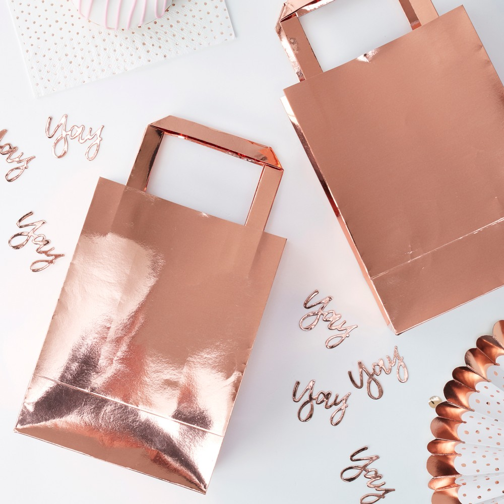 "Image of ""5ct """"Yay"""" Party Bags, Gold"""