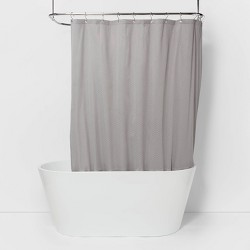 Waterproof Basket Weave Fabric Shower Liner - Made By Design™