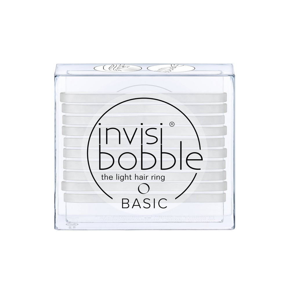 Image of Invisibobble Basic Hair Elastics - Crystal Clear