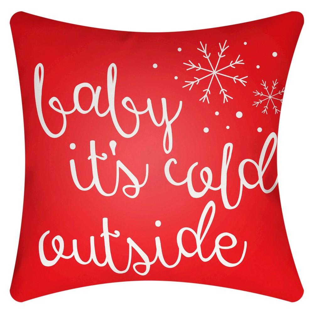 Red Winter Romance Throw Pillow 18