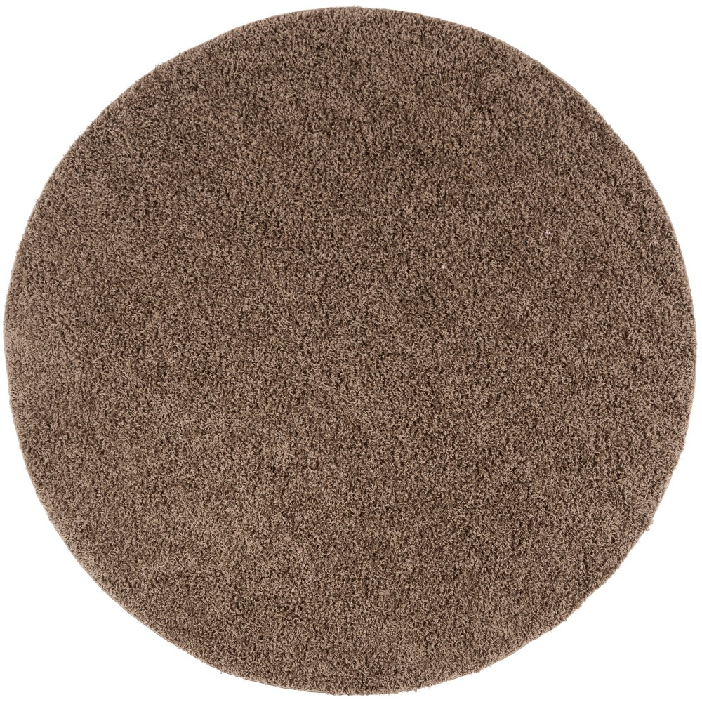 67 Round Solid Loomed Area Rug Dark Brown - Safavieh Compare