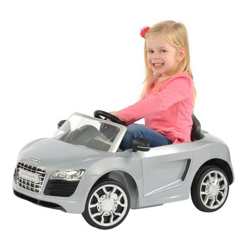 Rollplay Audi V Mini Spyder Gray Target - Audi 6v ride toy cars
