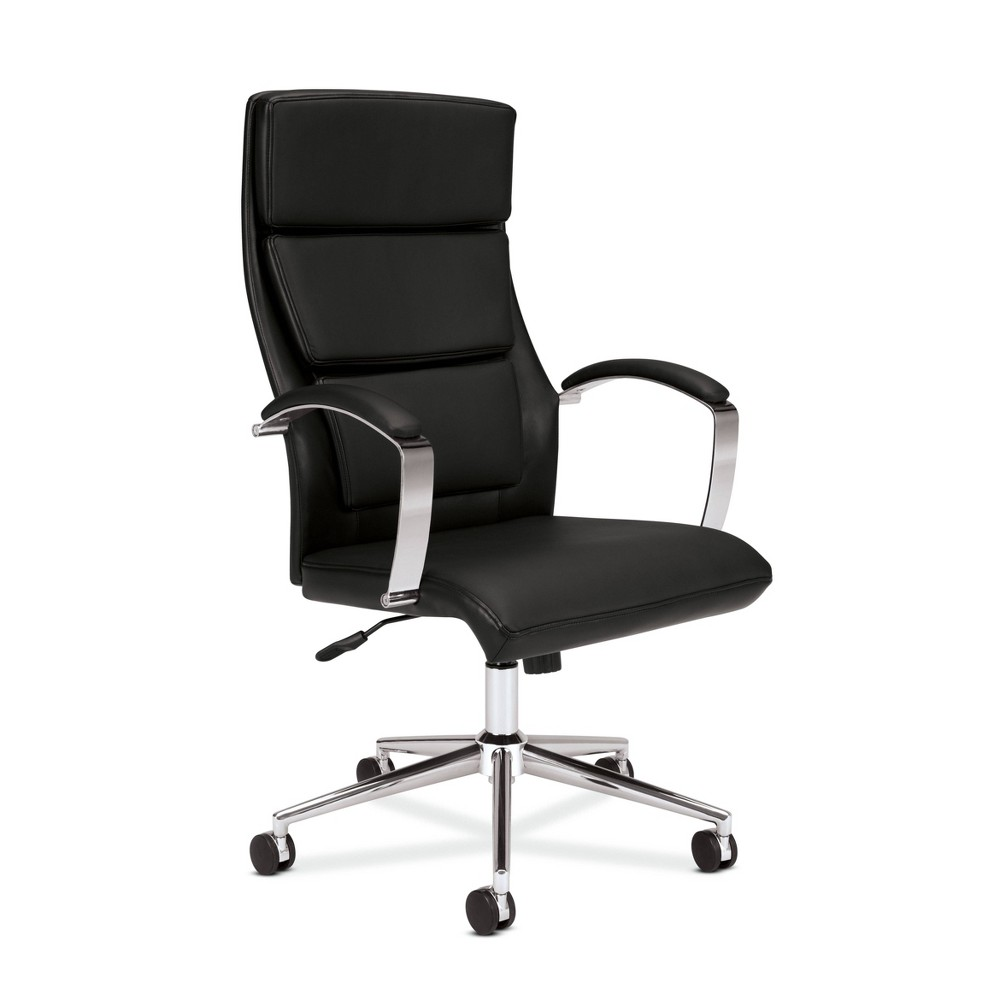 Image of Executive High Back Leather Task Chair Black - HON