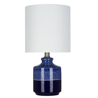 "14.75"" Ceramic Accent Lamp Blue  - Cresswell Lighting"