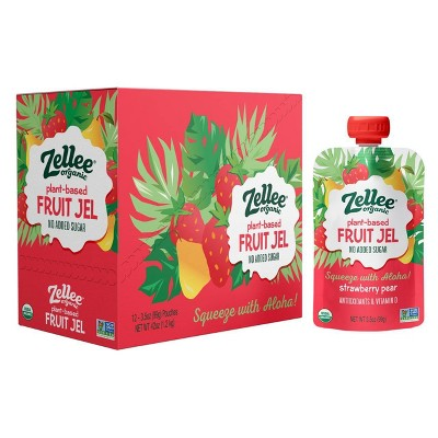 Zellee Organic Strawberry Pear Fruit Jel - 42oz/12ct