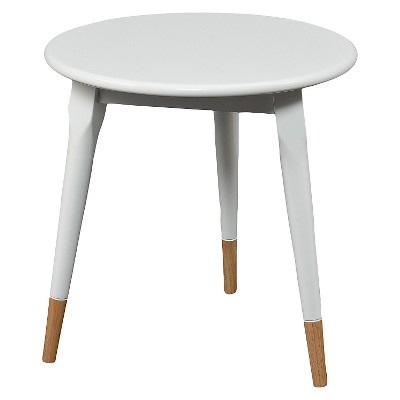 Alden Round Side Table Glossy   White   Aiden Lane : Target