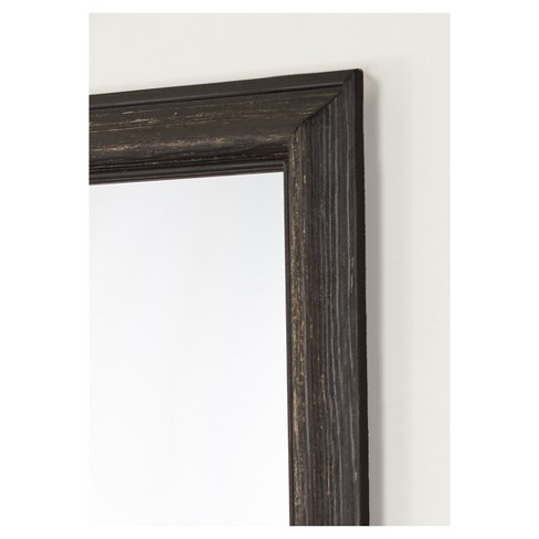 27 X 39 Savannah Brushed Black Framed Beveled Glass Wall Mirror