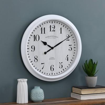 Avery Farmhouse Whisper Clock White - FirsTime