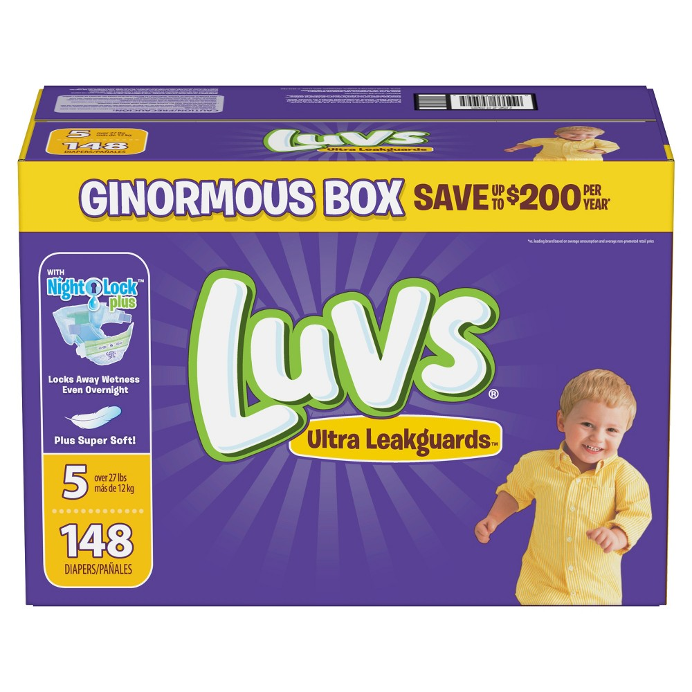 Luvs Disposable Diapers Ginormous Pack - Size 5 (148ct)