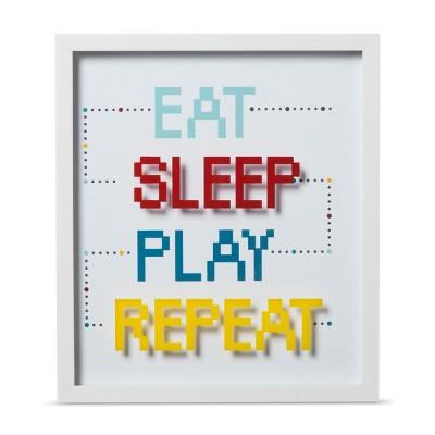 Eat Sleep Play Repeat Framed Wall Print (16 x14 x1.38 )- Pillowfort™