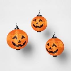 3ct Hanging Jack O'Lantern Halloween Novelty Sculpture LED Light Hyde & EEK! Boutique - Hyde & EEK! Boutique™