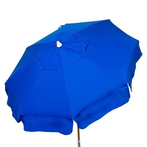 6' Italian Aluminum Collar Tilt Patio Umbrella - Parasol - image 1 of 3