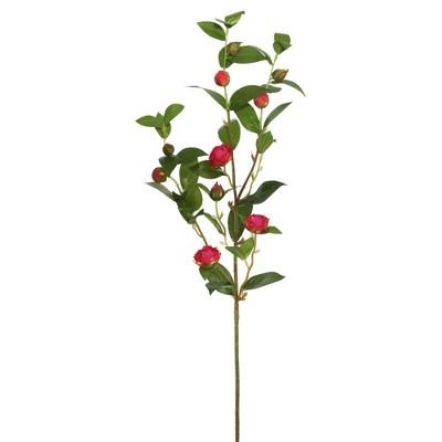 Artificial Tea Rose Spray (34'') Red - Vickerman
