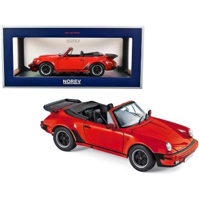 1987 Porsche 911 Turbo Cabriolet Red 1/18 Diecast Model Car by Norev