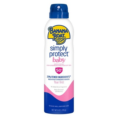 Banana Boat Simply Protect Baby Sunscreen Spray - SPF 50 - 6oz