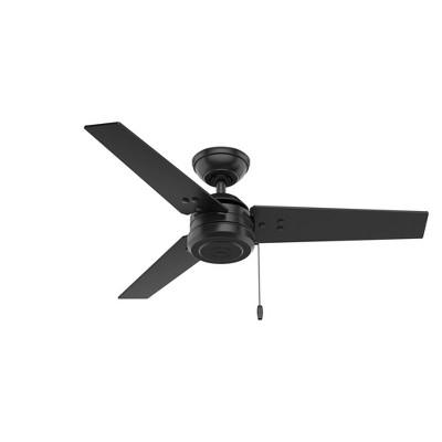 """44"""" Cassius Damp Rated Ceiling Fan Black - Hunter Fan"""