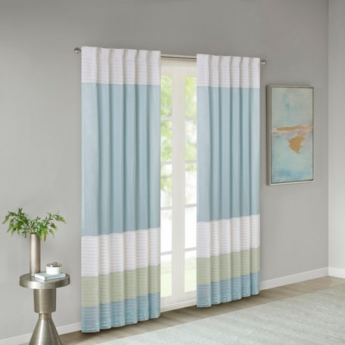 "Salem Polyoni Pintuck Curtain Panel (50""x84"") - image 1 of 8"