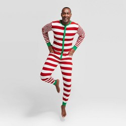 Men's Big & Tall Holiday Striped Union Suit - Wondershop™ Red