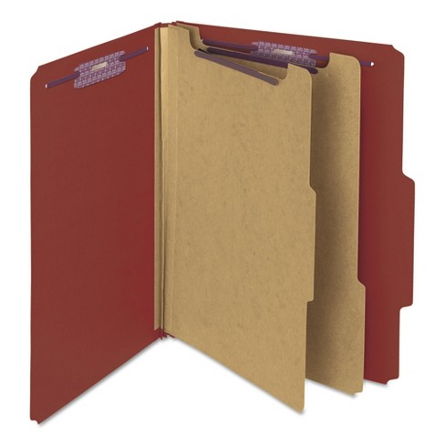Smead® Six-Section Pressboard Classification Folders with Self Tab (10 per Box) - image 1 of 7