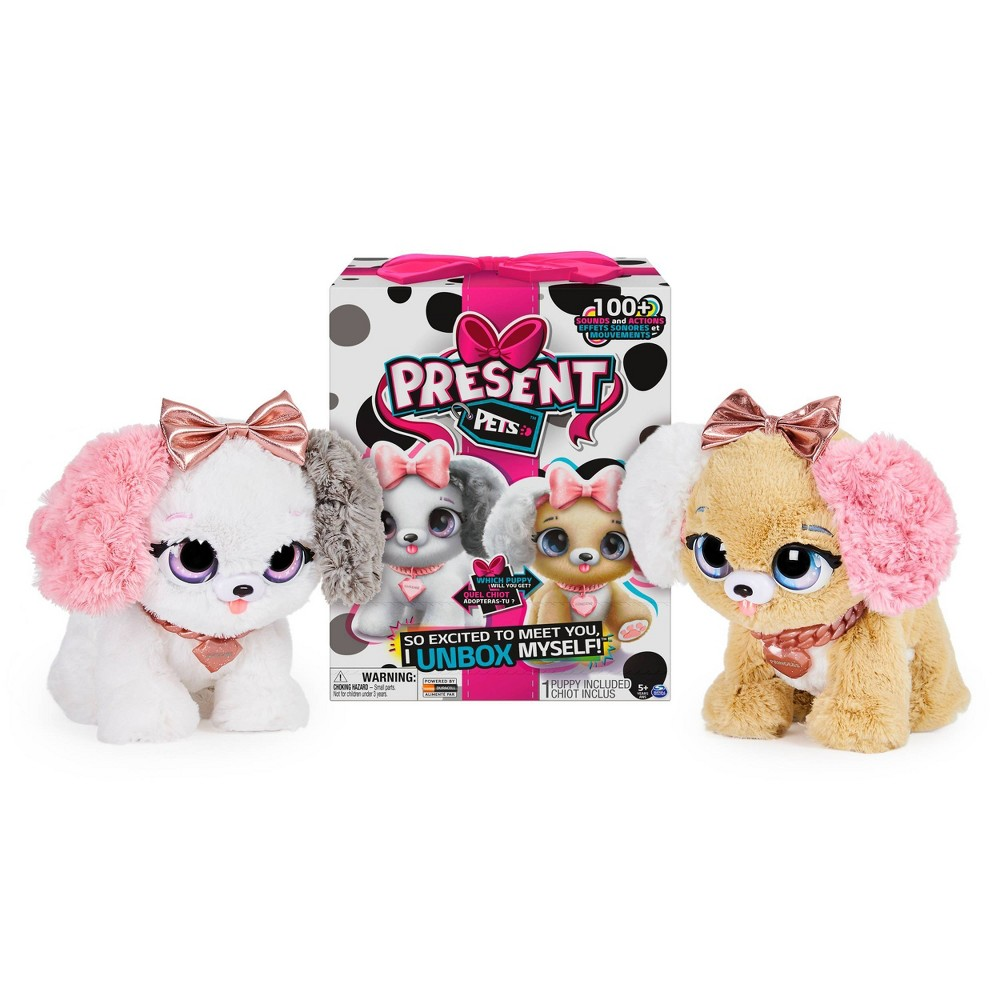 Present Pets Fancy Puppy Interactive Plush Pet Toy